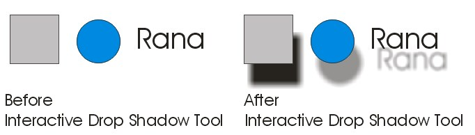 Drop Shadow Tool coreldraw