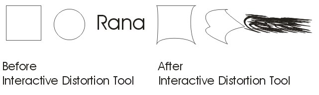 Interactive Distortion Tool practical CorelDraw