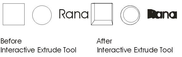 Interactive Extrude Tool Practical CorelDraw