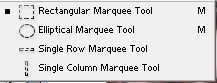 Rectangular Marquee Tool Options Adobe PhotoShop