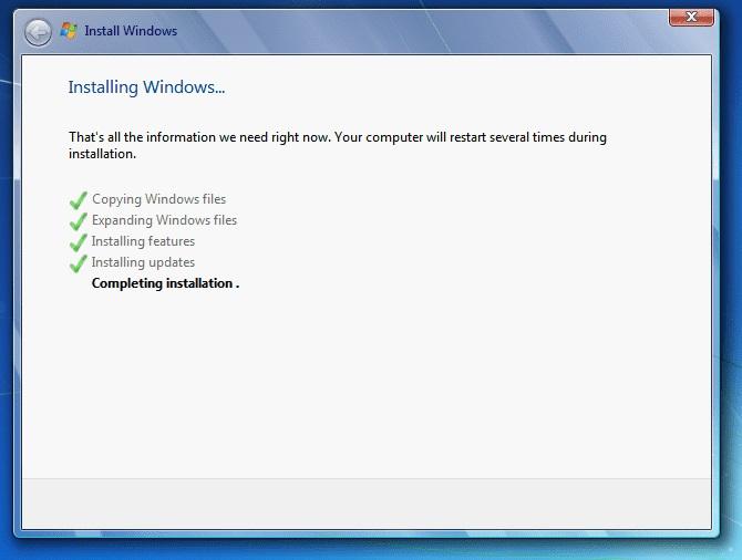 Windows 7 Complete Installation