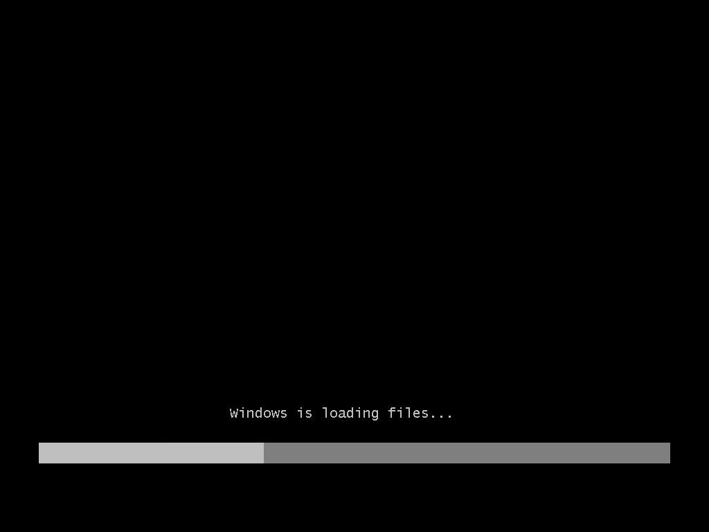 Windows 7 Installation Start