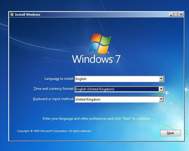 Windows 7 Language Setting