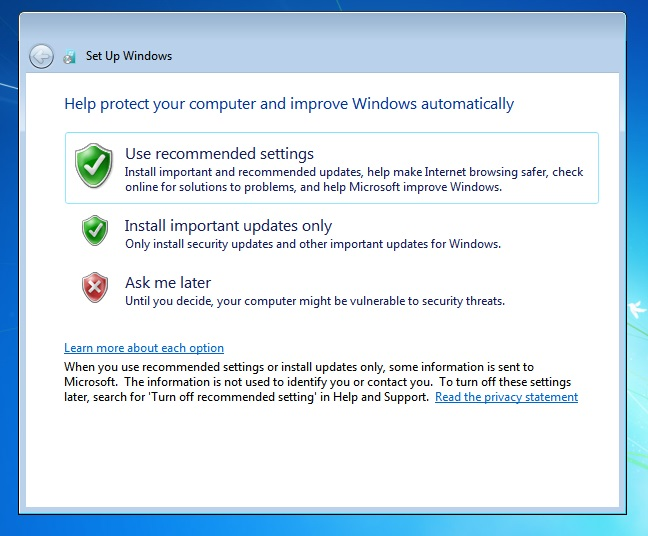 Windows 7 Recommended