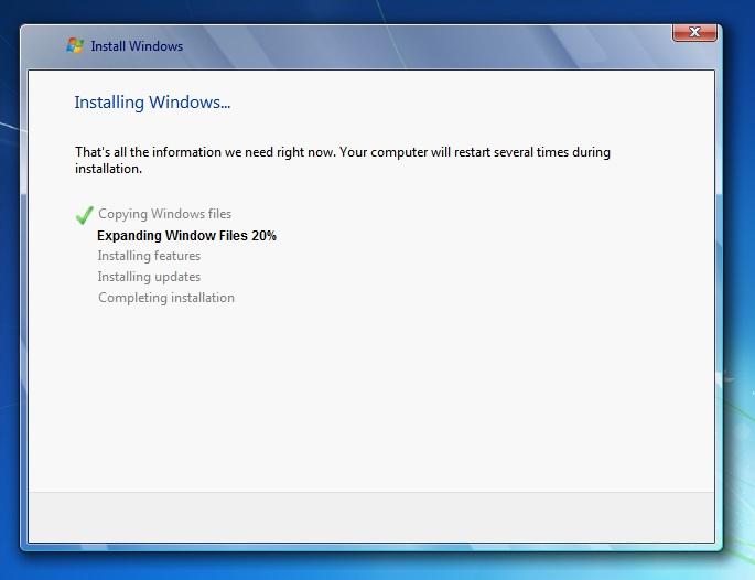 Windows 7 copying files