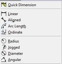 dimension options in autocad