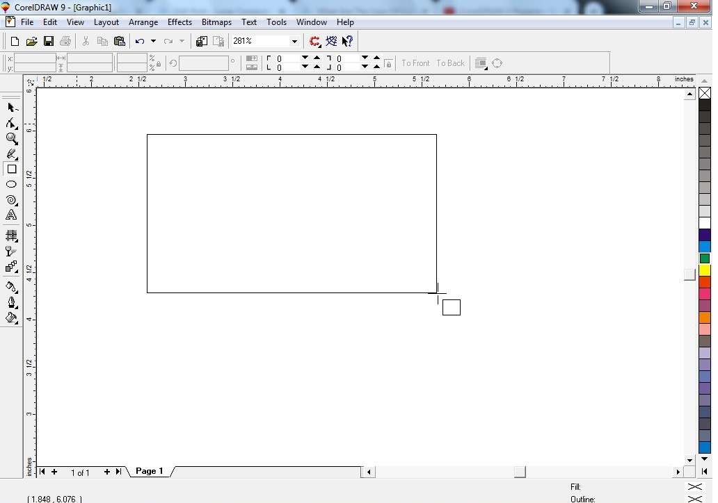 Draw the rectangle