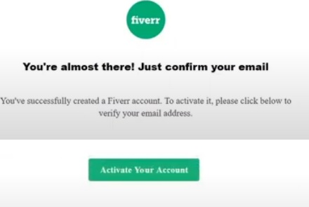 activate your fiver account
