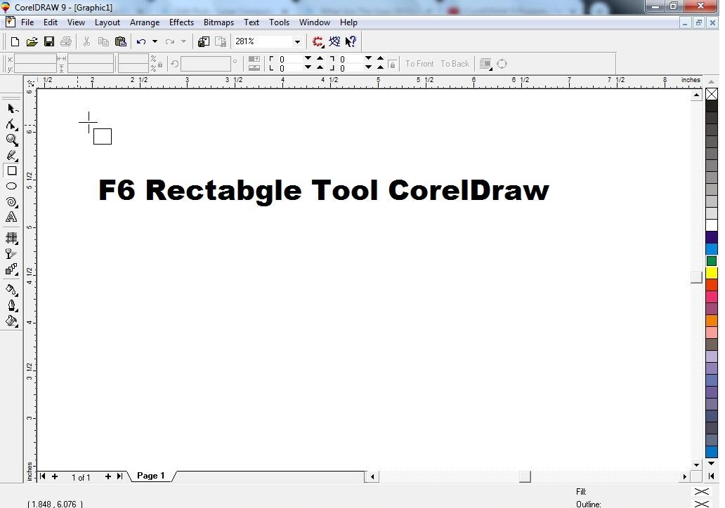 f6 Rectangle Tool CorelDraw