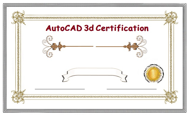 AutoCAD 3d Certification