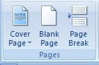 Insert Tab - Pages