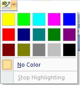 Text Highlight Color Options